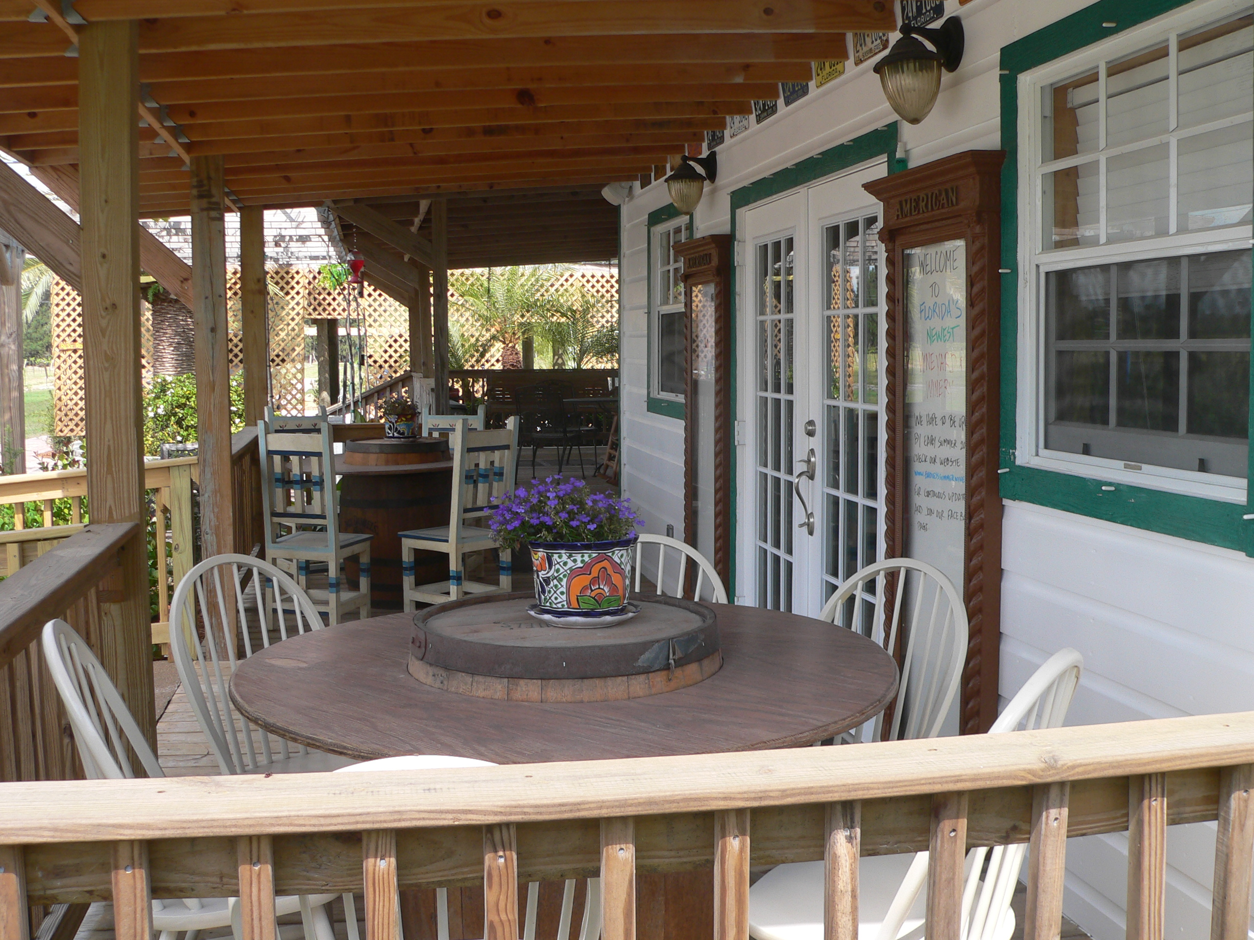 Front Porch Barrel Tables