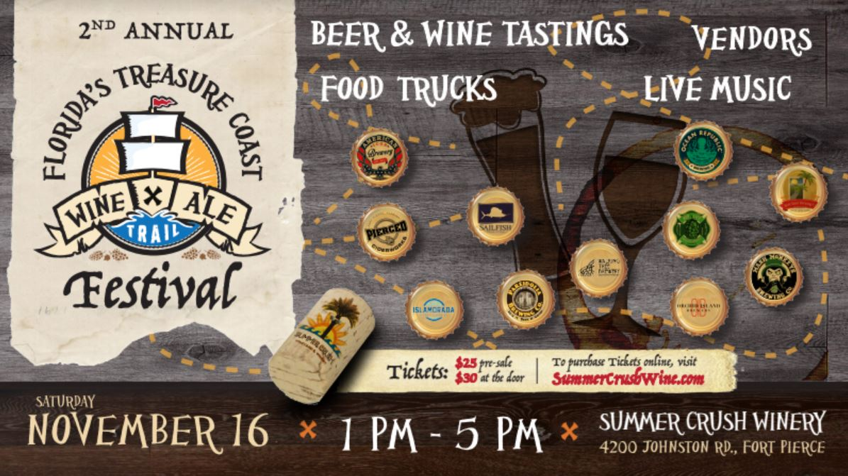 2nd Annual Treasure Coast Wine & Ale Trail Festival