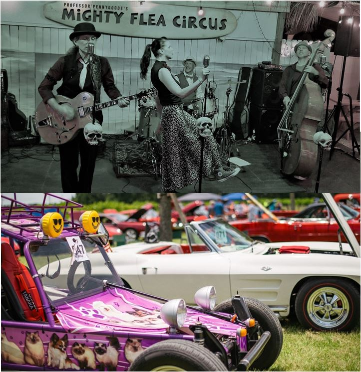 All Chevy/GM Spring Car & Truck Show. Music by Professor Pennygoode's Mighty Flea Circus 4-24-21
